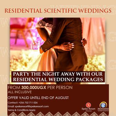 Speke Resort Munyonyo -Residential Scientific-Weddings