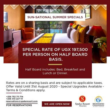 Speke Resort Munyonyo -Sun-sational Summer Specials