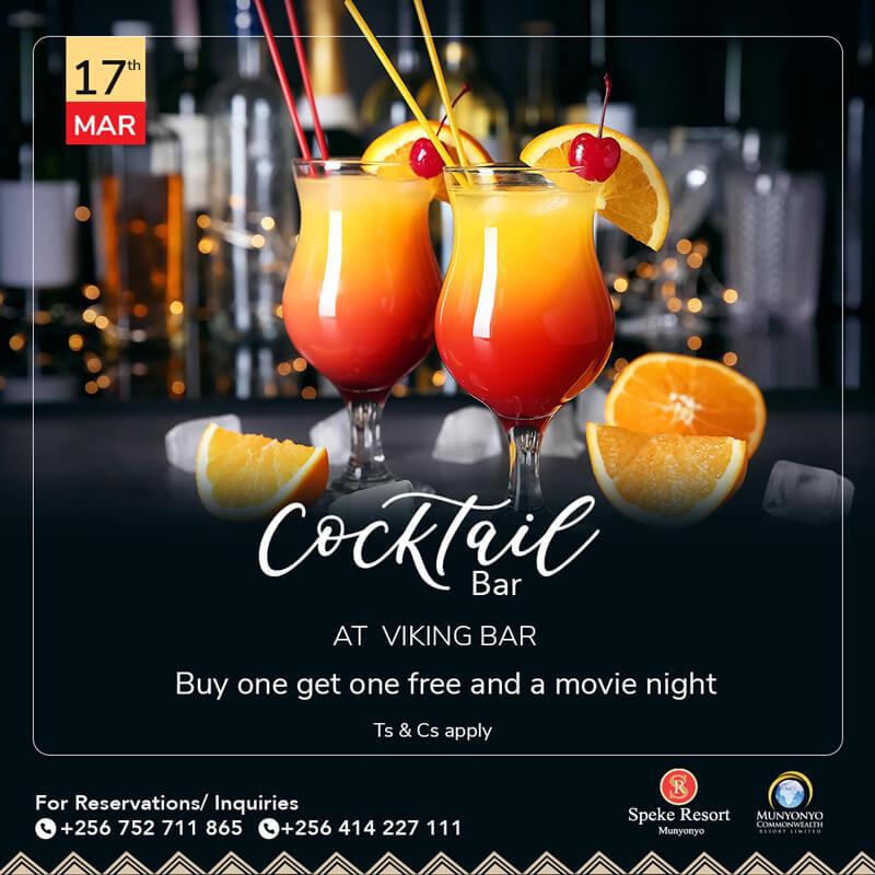 Speke Resort Munyonyo Cocktail At Viking Bar