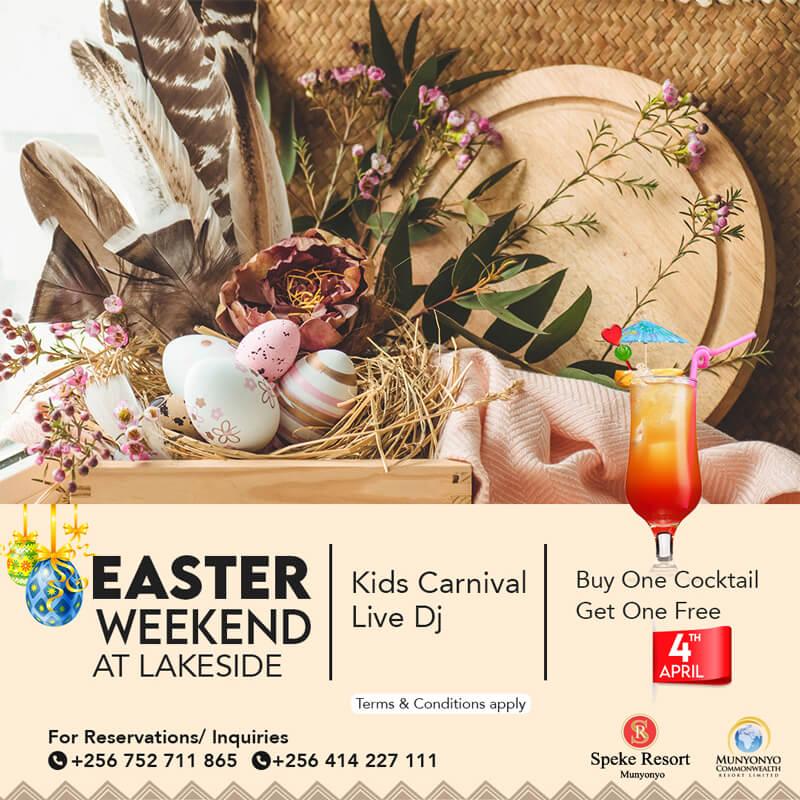 Speke Resort Munyonyo Easter Weekend