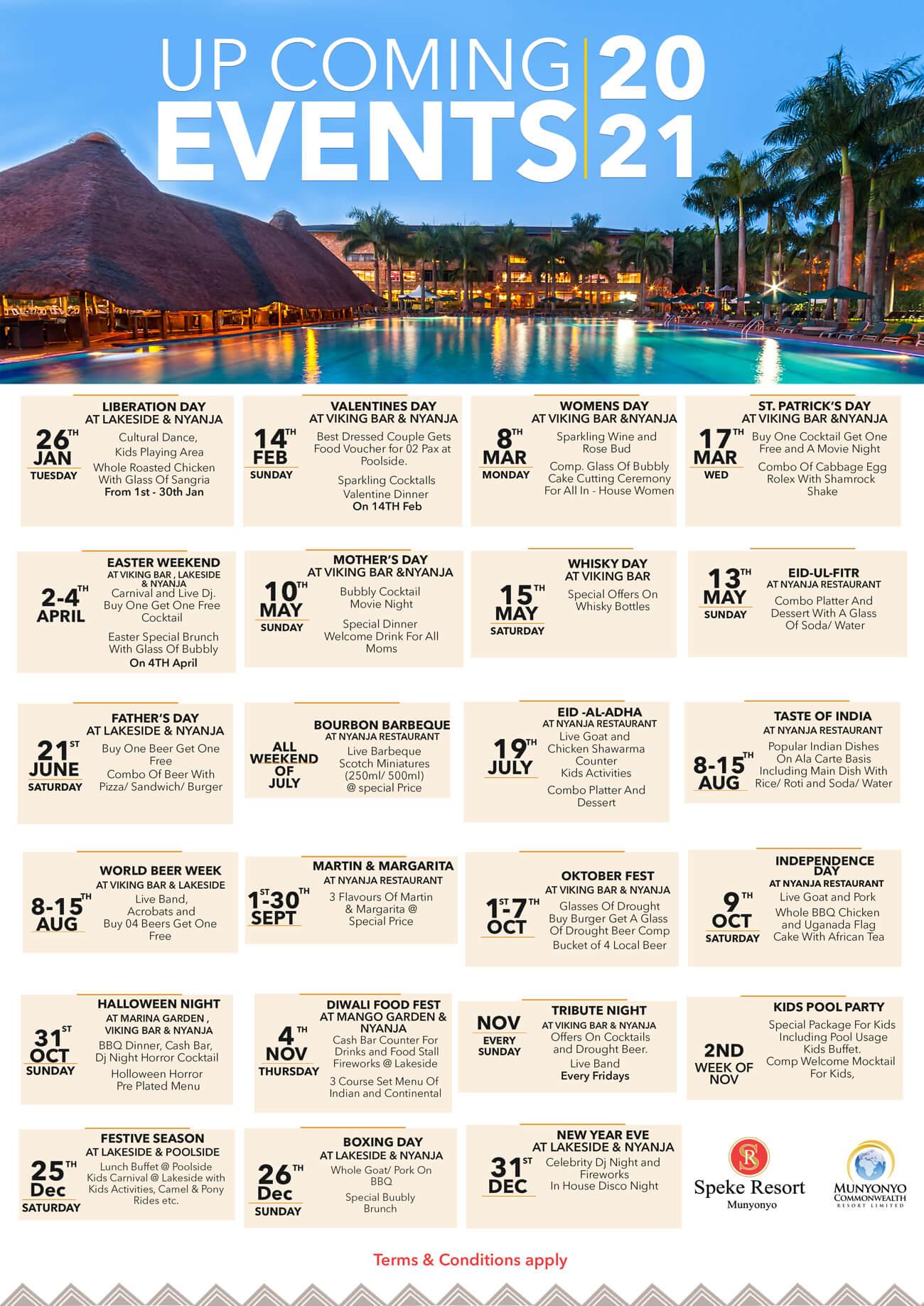 speke resort munyonyo events calendar