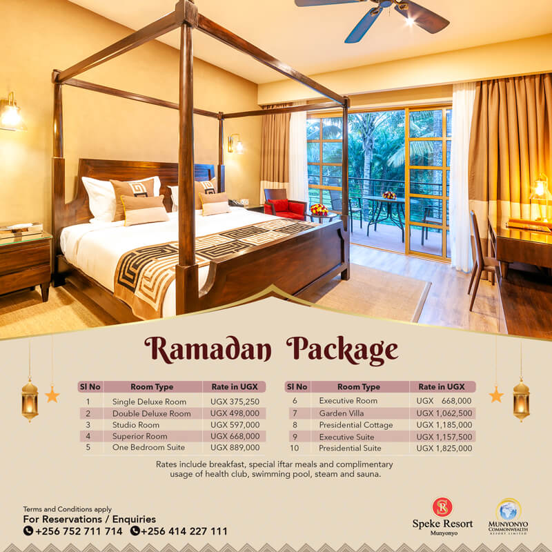 Speke Resort Munyonyo Rmadan iftar accomodation special