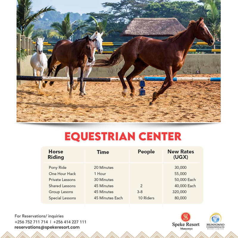 Speke Resort Munyonyo equestrian cener 2021 May