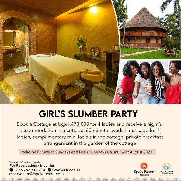 Calabash Spa-and Salon Munyonyo Girl slumber party