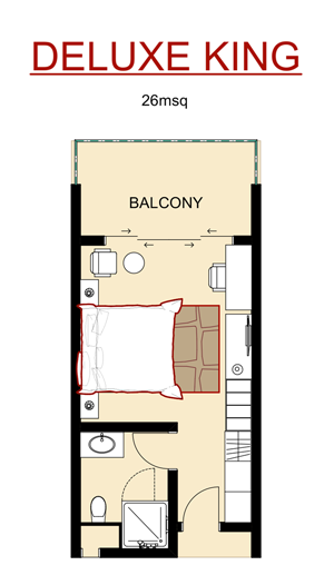 Deluxe King Room Layout
