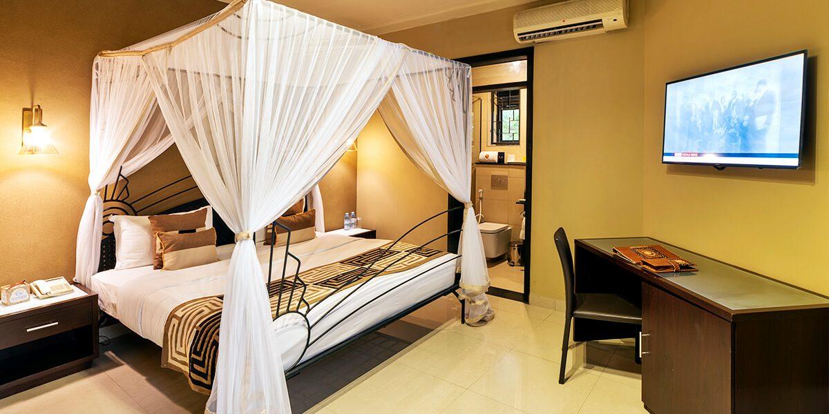 speke resort munyonyo garden villa bedroom