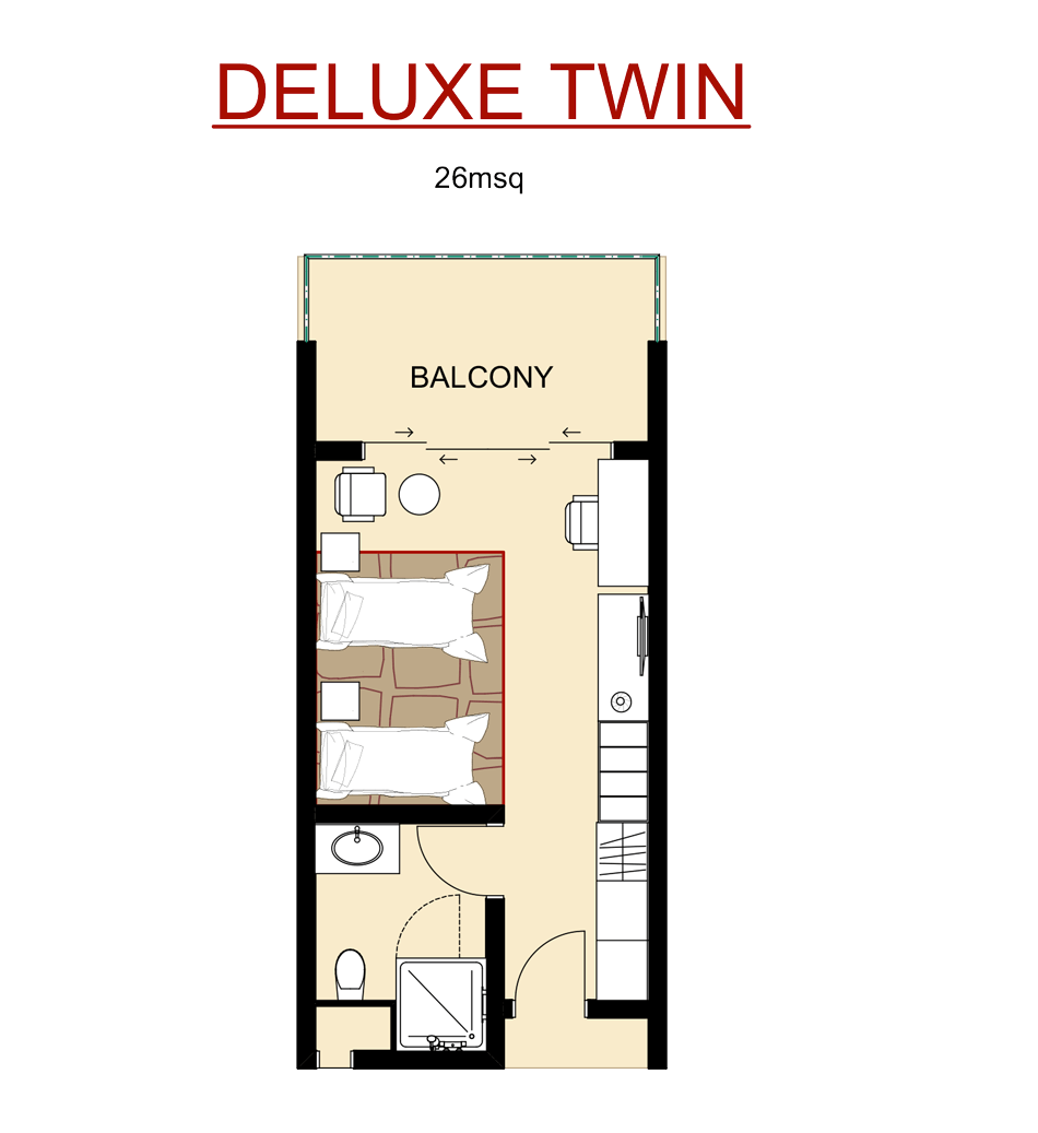 Deluxe Twin Room Layout