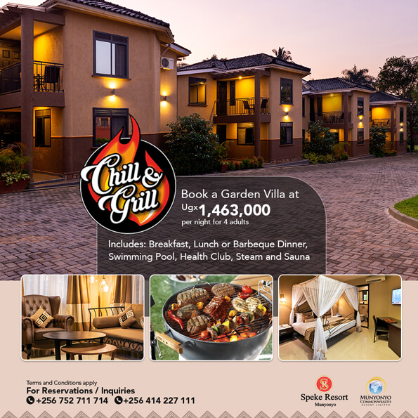 Speke Resort Munyonyo special offer chill and grill
