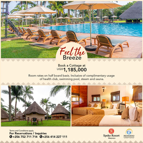 Speke Resort Munyonyo special offer feel the breeze cottages