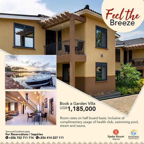 Speke Resort Munyonyo special offer feel the breeze garden villas